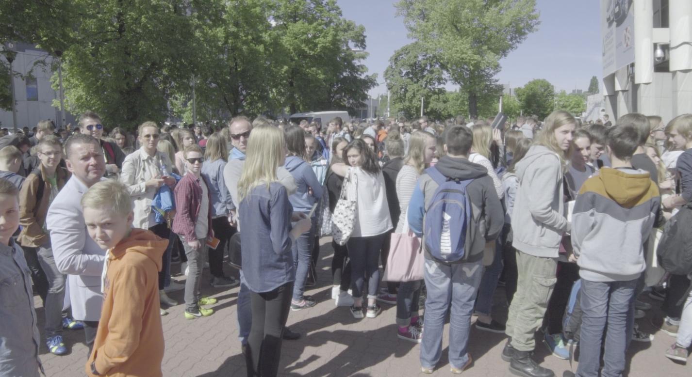 To tylko część tłumu okupującego Torwar podczas OVF.