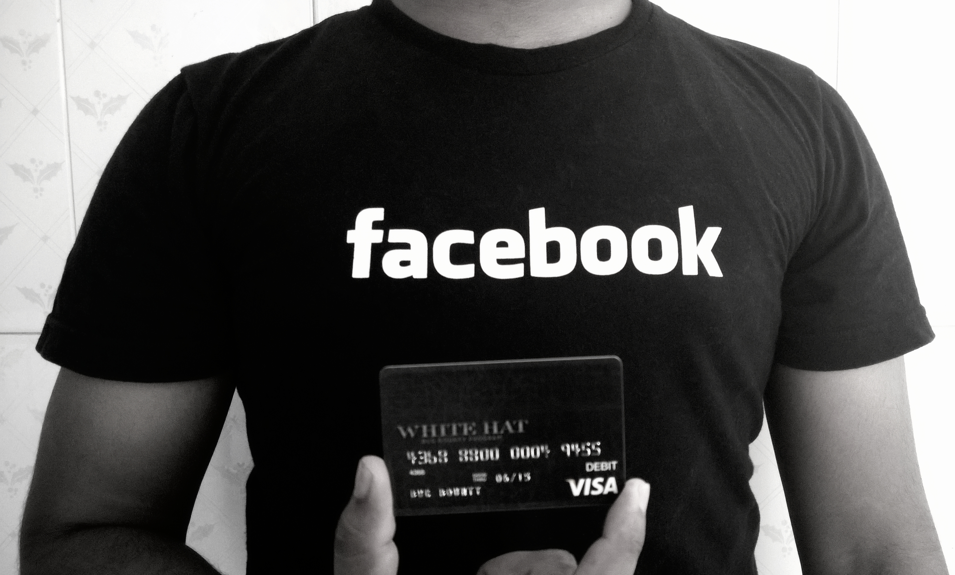 Facebook_t-shirt_with_whitehat_debit_card_for_Hackers